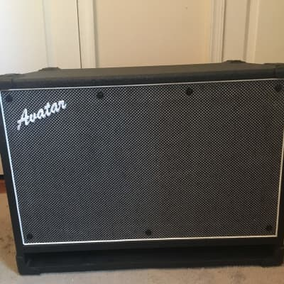 Avatar SB210 Bass cab, neo mag speakers, 2009 Black / Silver, 8 ohm, 500 watt