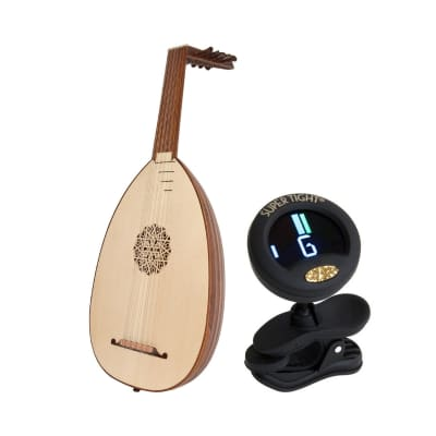 Roosebeck Deluxe Package Includes: 6-course Lute - Sheesham & Spruce + Chromatic Tuner for Lute