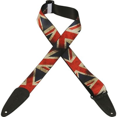Levy's MDP-UK Poly Guitar Strap UK Flag