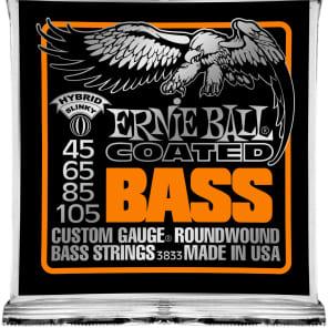 Ernie Ball 3833 Coated Hybrid Slinky Electric Bass Strings (45 - 105)
