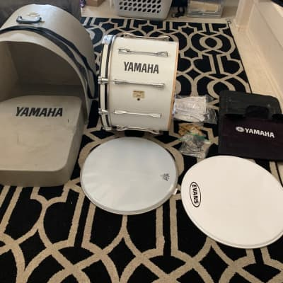 """Yamaha Field-Corps 20"""" Marching Drum *Needs Rim* w/ Case & Cover"""