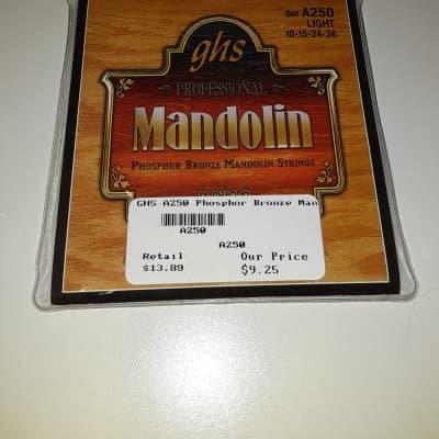 GHS A250 Phosphor Bronze Mandolin String Set - Light .010-.036