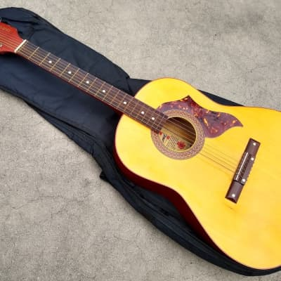 Vintage 1960's Egmond Acoustic Guitar - Cool 6 On A Side Headstock! for sale