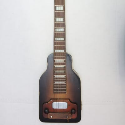 Vintage Kay Sherwood Deluxe Lap Steel Guitar 1950s Sunburst Original Rare for sale