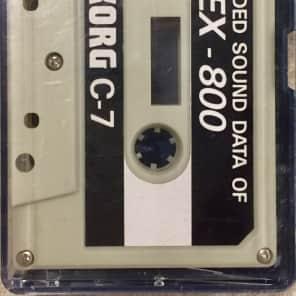 Korg Ex-800 factory data cassette