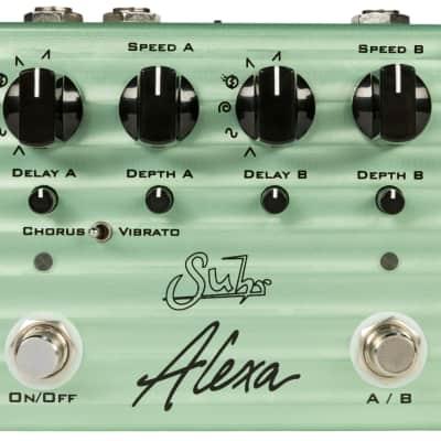 Suhr Alexa Analog Chorus / Vibrato Modulation Guitar Effects Pedal Multi Wave Dual Channel