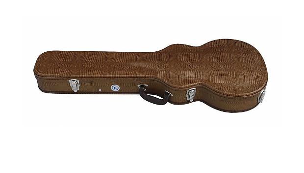 allen eden copper alligator skin hard shell guitar case for reverb. Black Bedroom Furniture Sets. Home Design Ideas