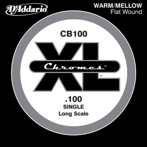 D'Addario CB100 Chromes Bass Guitar Single String Long Scale .100