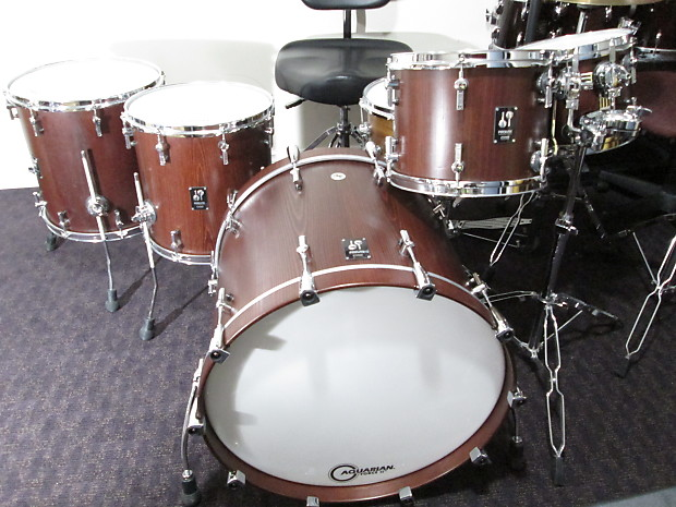 Sonor Prolite 2012 Nussbaum Satin Redish Brown Reverb