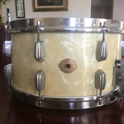 "Slingerland Super Gene Krupa Radio King 7x14"" 16-Lug Solid Maple Snare Drum 1960 - 1962"