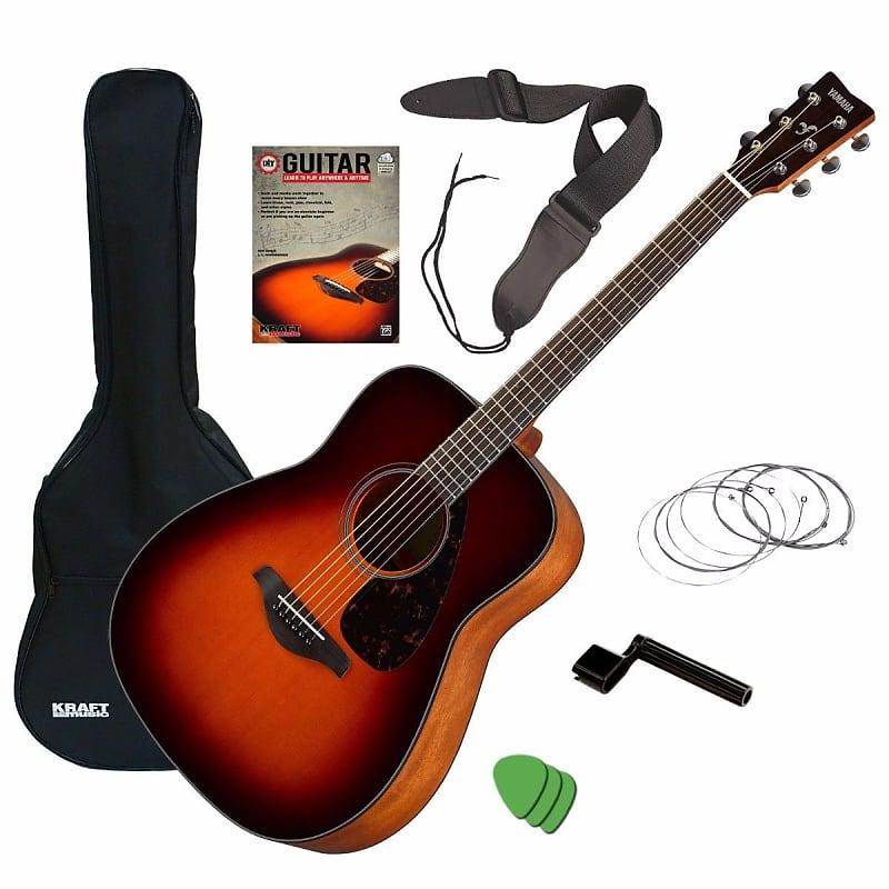 Yamaha FG800 Acoustic Guitar - Brown Sunburst GUITAR ESSENTIALS BUNDLE | Kraft Music | Reverb