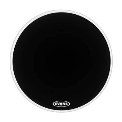 Evans MX1 Marching Bass Drumhead White 24 in