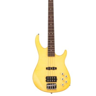 Monterey MCB-26TA Bass Guitar w/Active 3-Band EQ - Trans Amber for sale