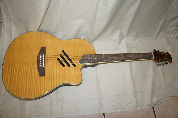 acoustic electric guitar round back reverb. Black Bedroom Furniture Sets. Home Design Ideas