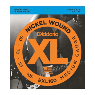D'Addario EXL160 Nickel Wound Long Scale Bass Guitar Strings, Medium Gauge