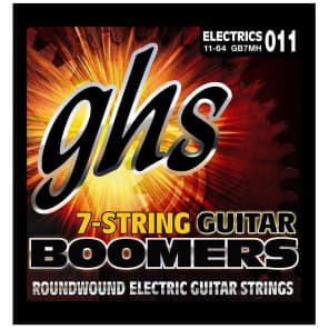 GHS GB7MH Boomers Electric Guitar Strings GB7MH  7-string  gauges 11-64