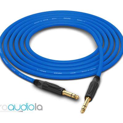 "Canare Quad Cable L-4E6S   Neutrik Gold 1/4"" TRS to 1/4"" TRS   Blue 50 Feet   50 Ft.   50'"