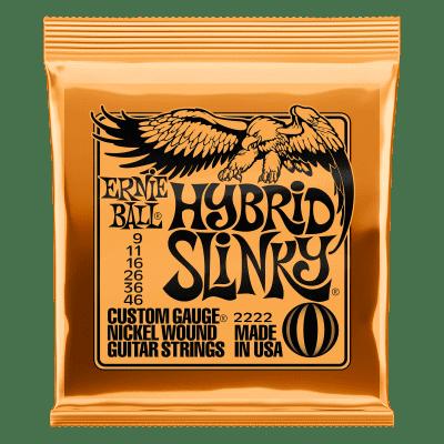 Ernie Ball 2222 Hybrid Slinky Electric Guitar Strings, .009, - .046