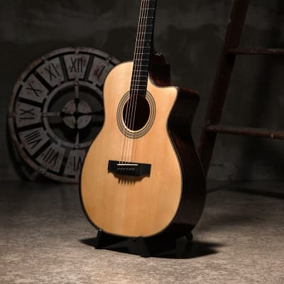Bentivoglio Jang BeomJune 1513c OM Cutaway All Solid Spruce Richlite Bevel JBJ for sale