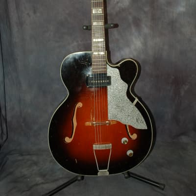 1960 Kay Upbeat Kelvinator Headstock Barney Kessel Pickup Neck reset Orig Case Hang Tag for sale