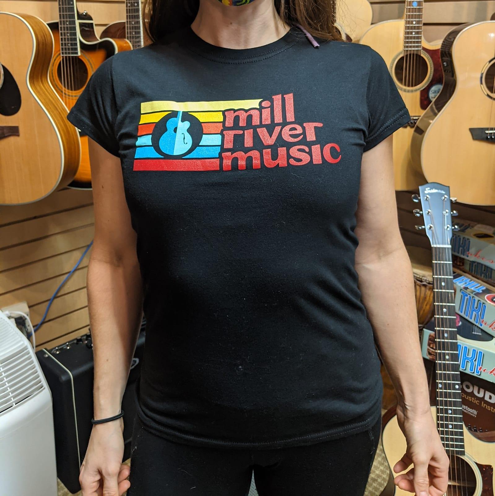 Mill River Music T-Shirt 1st Edition Main Logo Black Ladies 2XL