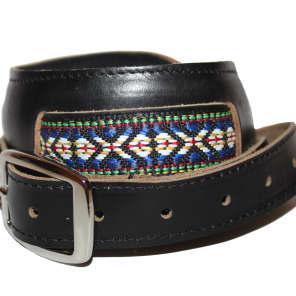 Souldier Vintage Leather Saddle Strap - Classic Weave  - Black