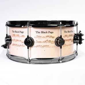 "DW 6.5x14"" Icon Series ""The Black Page"" Terry Bozzio Signature Snare Drum"