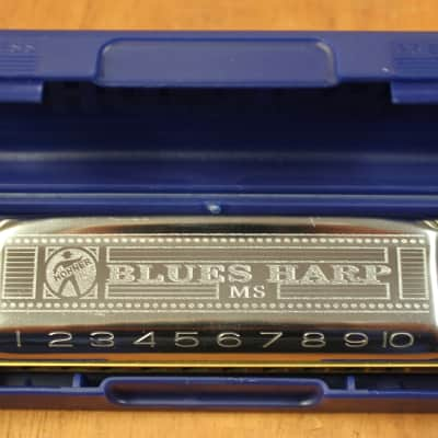 Hohner Blues Harp 532 MS 10 Hole Diatonic Harmonica - Eb