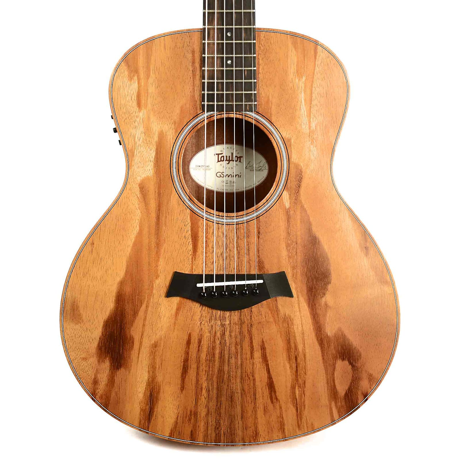 taylor gs mini e solid koa top esb w gig bag. Black Bedroom Furniture Sets. Home Design Ideas