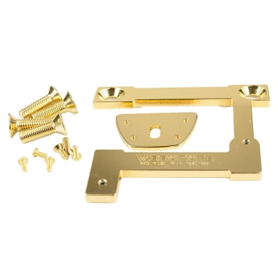 Vibramate V7-335-G-G V7Gibson ES-335 Archtop Adapter Kit For Bigsby B7 G Series 24K Gold