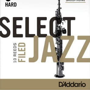 Rico RSF10SSX3H Select Jazz Soprano Saxophone Reeds, Filed - Strength 3 Hard (10-Pack)