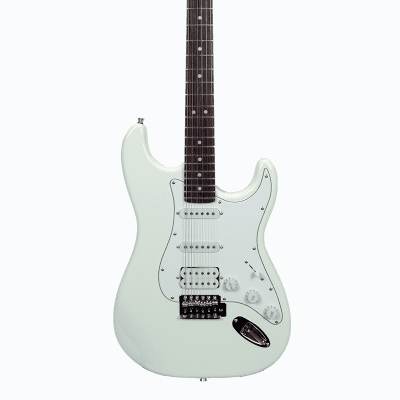 Glen Burton GE39-ST101-WH Solid Body Bolt-on Maple S-Type 6-String Electric Guitar -  White for sale