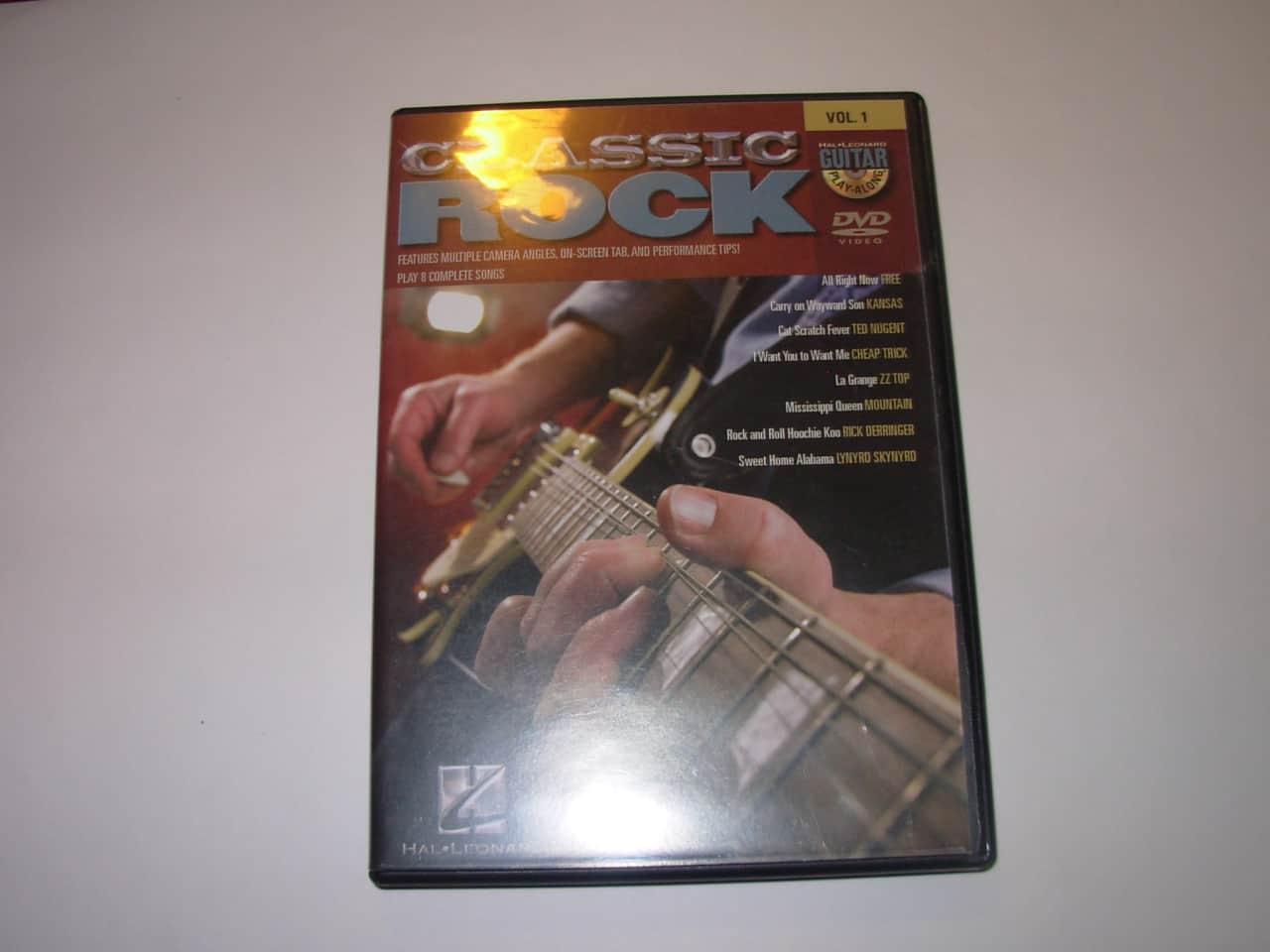 Hal Leonard Classic Rock Dvd Guitar Play Along Vol1 Dvd Reverb