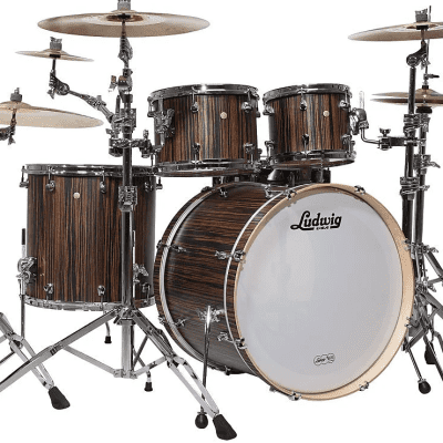 """Ludwig LSS240X Signet TeraBeat 10 / 12 / 16 / 22"""" 4pc Shell Pack"""