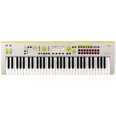 Korg KROSS 2 Keyboard Synthesizer Workstation, 61-Key, Limited Edition Neon Green