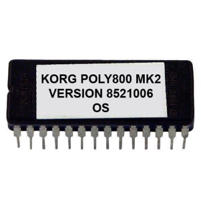 Korg Poly-800 MKII - Version #851006 Firmware Update OS Upgrade Eprom Poly800