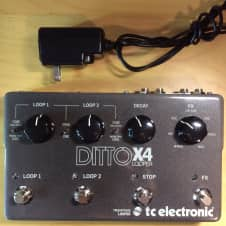 TC Electronic Ditto X4 Looper pedal with AC adapter