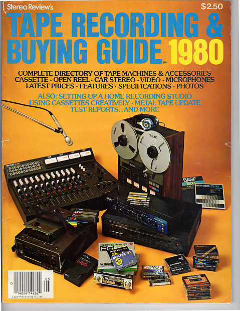 Rare Vintage Stereo Review Tape Recording & Buying Guide 1980 Equipment  Reviews