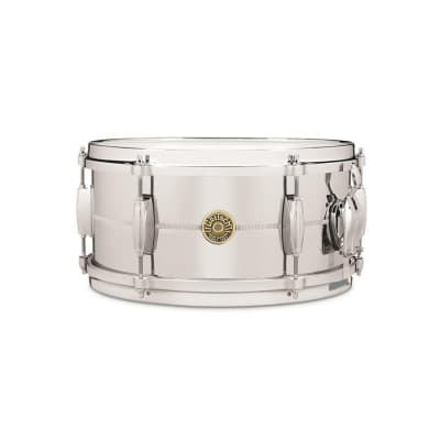 "Gretsch G4168 USA Chrome Over Brass 6x13"" 6-Lug Snare Drum"