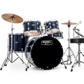 """Mapex RB5294FTCYB Rebel 22x16"""" / 10x7"""" / 12x8"""" / 16x14"""" / 14x5"""" Complete 5pc SRO Kit w/ Cymbals"""