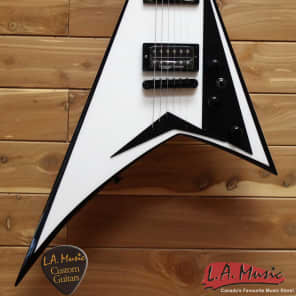 Jackson USA RR1T Randy Rhoads Snow White with Black Bevels 2803061877 for sale