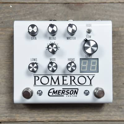 Emerson Custom Pomeroy Analog Overdrive Distortion White for sale