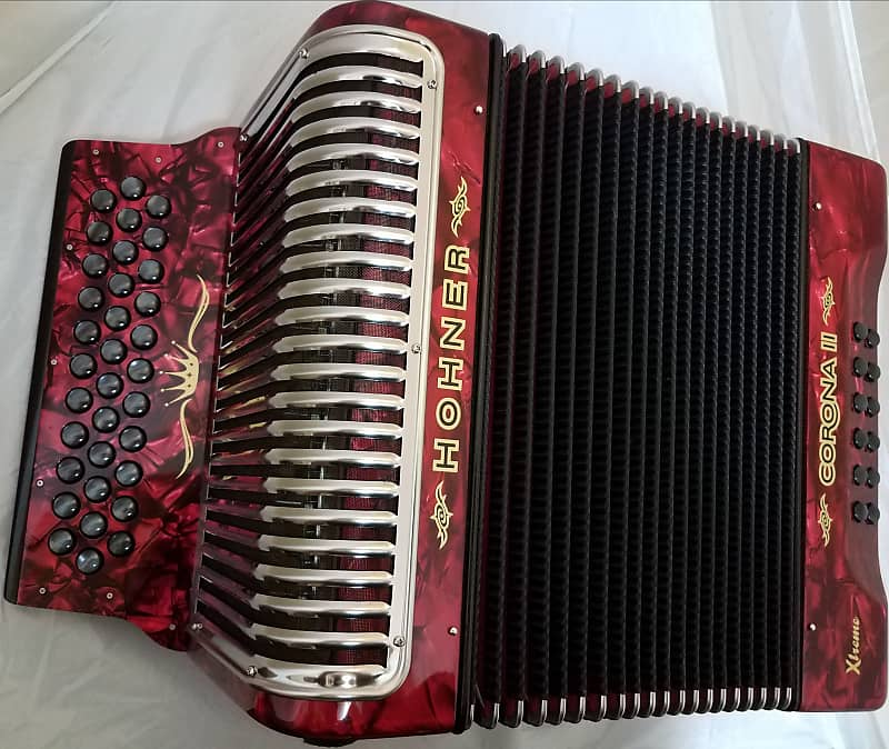 Hohner Xtreme Red EAD/MI Accordion Made in Germany Authorized Dealer  +Deluxe Case, Bag, Strap, Shirt