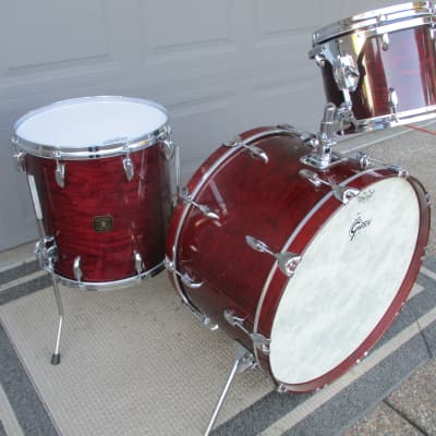 """Gretsch Vintage USA Drums, Early 80s, 24"""" Kick, Lacquer Finish, Maple, Die-Cast Hoops - Very Nice!"""