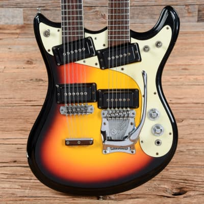 Mosrite Joe Maphis Double Neck Sunburst 1966 (s305) for sale