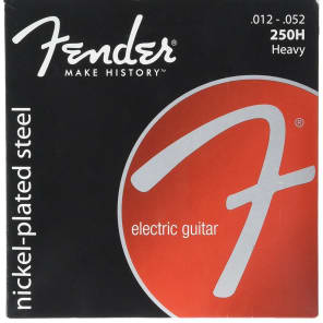 Fender Super 250H Nickel-Plated Steel Electric Guitar Strings Set - HEAVY 12-52 for sale