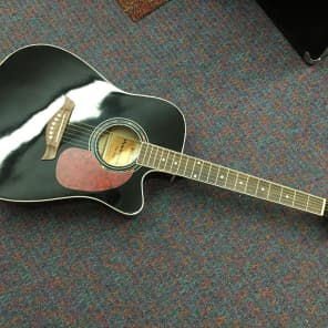 Giannini-Dreadnought Acoustic Guitar-GF-1R CEQ BK-New-Includes Shop Setup! for sale