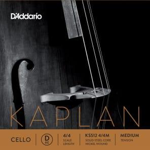 D'Addario KS512 4/4M Kaplan Cello D String - Medium Tension