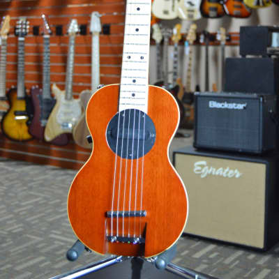 G-Sharp OF-1 Tenor Travel Guitar, Natural Mahogany (g# tuning, comes w/ gig bag) for sale
