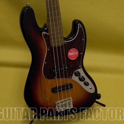 037-4531-500 Squier by Fender Classic Vibe 60's Fretless Jazz Bass - Laurel - 3-Tone Sunburst for sale